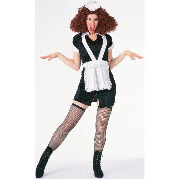 Rocky Horror Picture Show - Magenta Adult Costume (42 CAD) ❤ liked on Polyvore featuring costumes, halloween costumes, horror costumes, sexy adult costumes, 70s costumes, adult halloween costumes and rocky horror halloween costumes