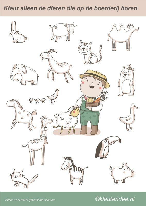 Welke dieren horen op de boerderij?