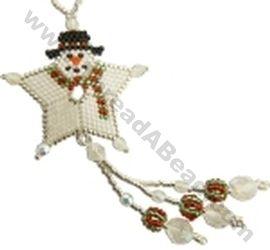 Snowman Shooting Star Ornament Bead Pattern By ThreadABead