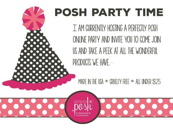 Shop online from the comfort of your own home and all your fabulous products will be delivered straight to your doorstep. Join our Perfectly Posh Party Today