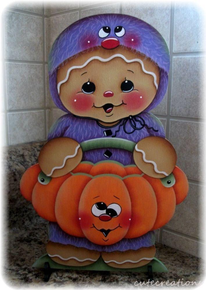 HP GINGERBREAD Little Monster with Pumpkin SHELF SITTER