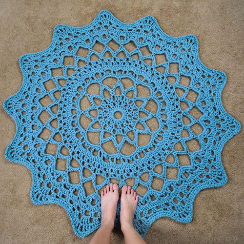 Crochet Pattern Doily Rug Spot