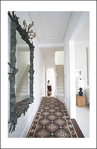 For front hall encaustic tiles