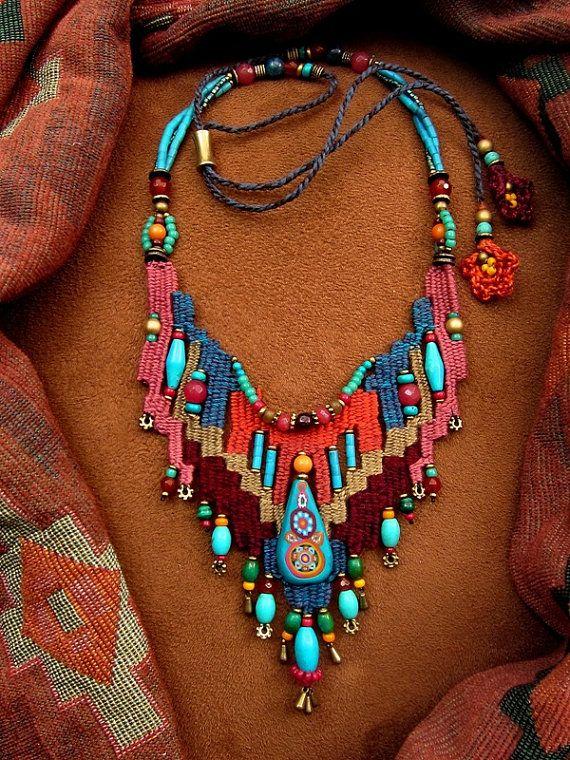 Boho weaving jewelry by DusdeeCreations on Etsy, $92.50