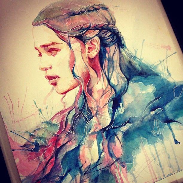 #GameofThrones #GoT Khaleesi Daenerys Targaryen  by Alice X. Zhang