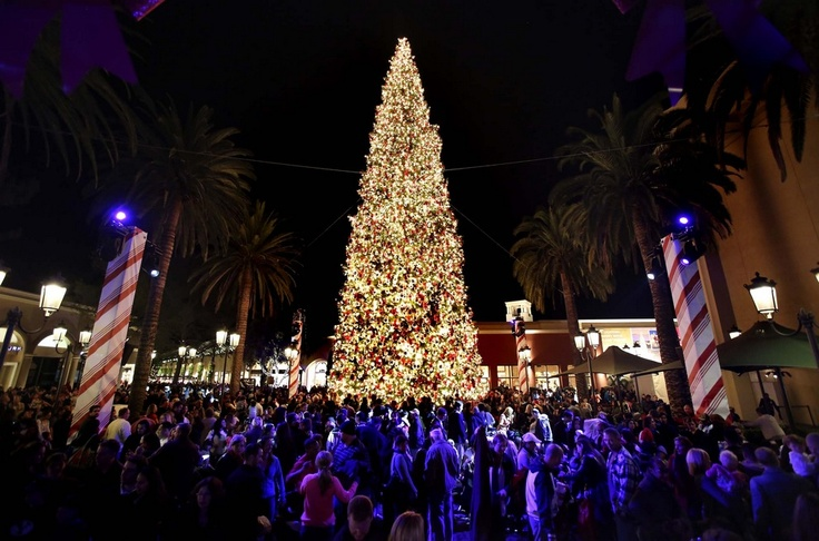 Рождественская ёлка в Ньюпорт-Бич, штат Калифорния, США