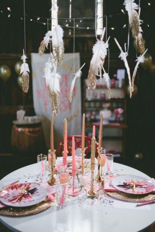déco romantique de table pour la Saint Valentin