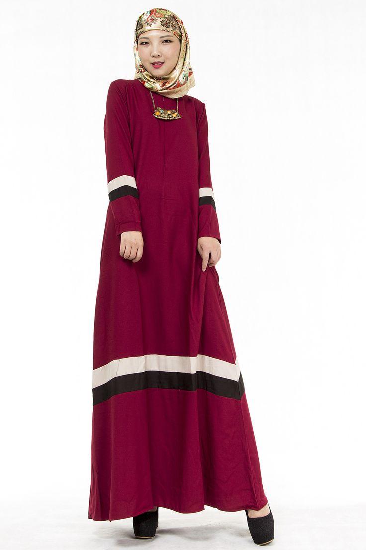 New Muslim Womens Kaftan Dress O-Neck Long Sleeve Floor-Length Islamic Abaya Malay Dubai Saudi Arabia Style Jilbab Hijab Dresses #Hijab dress http://www.ku-ki-shop.com/shop/hijab-dress/new-muslim-womens-kaftan-dress-o-neck-long-sleeve-floor-length-islamic-abaya-malay-dubai-saudi-arabia-style-jilbab-hijab-dresses/