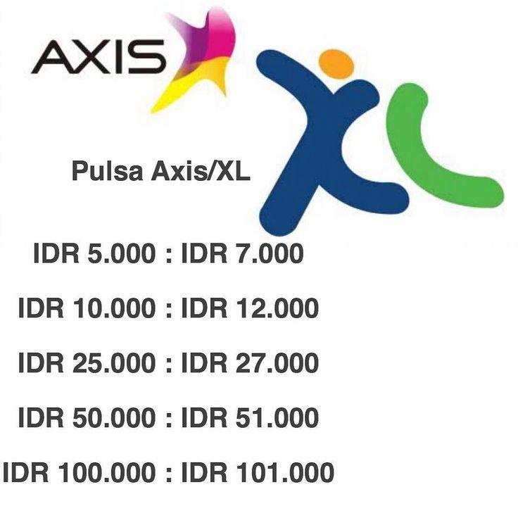 Isi pulsa XL atau Axis kamu sekarang !