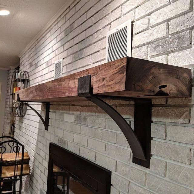 Fireplace Mantel Supports Mantel Decor Rustic Mantel Farmhouse Decor Mantel Shelf Metal Shelf Brackets Industrial Sold Individually In 2020 Rustic Fireplace Mantels Rustic Mantel Farmhouse Mantel