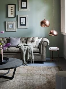 Pale green wall in Interior
