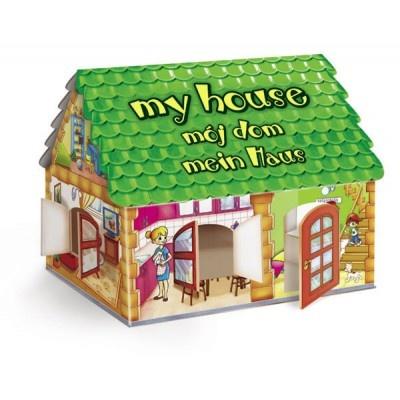 Gra polega na ułożeniu z puzzli planszy przedstawiającej rożne pomieszczenia w domu, a następnie dopasowaniu odpowiednich elementów do poszczególnych pomieszczeń. Czy łóżko wstawisz do kuchni, łazienki, czy do sypialni? Gdzie umieścić szczoteczkę do zębów? Telewizor?WIEK: 4-7 lat