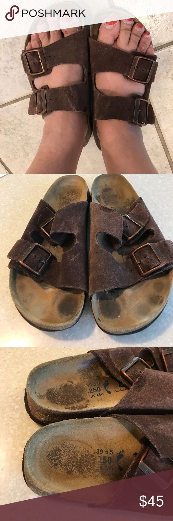 Birkenstock/Betula sandals size 39 Great quality sandals that has some used with darkening in the footbed noticed,and bottom with some worn but overall still look good with lots of life left. Birkenstock Shoes Sandals