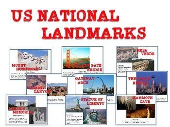 United States Us Landmarks Social Studies Pinterest Map