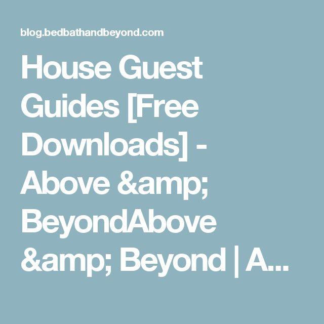 House guest menu ideas