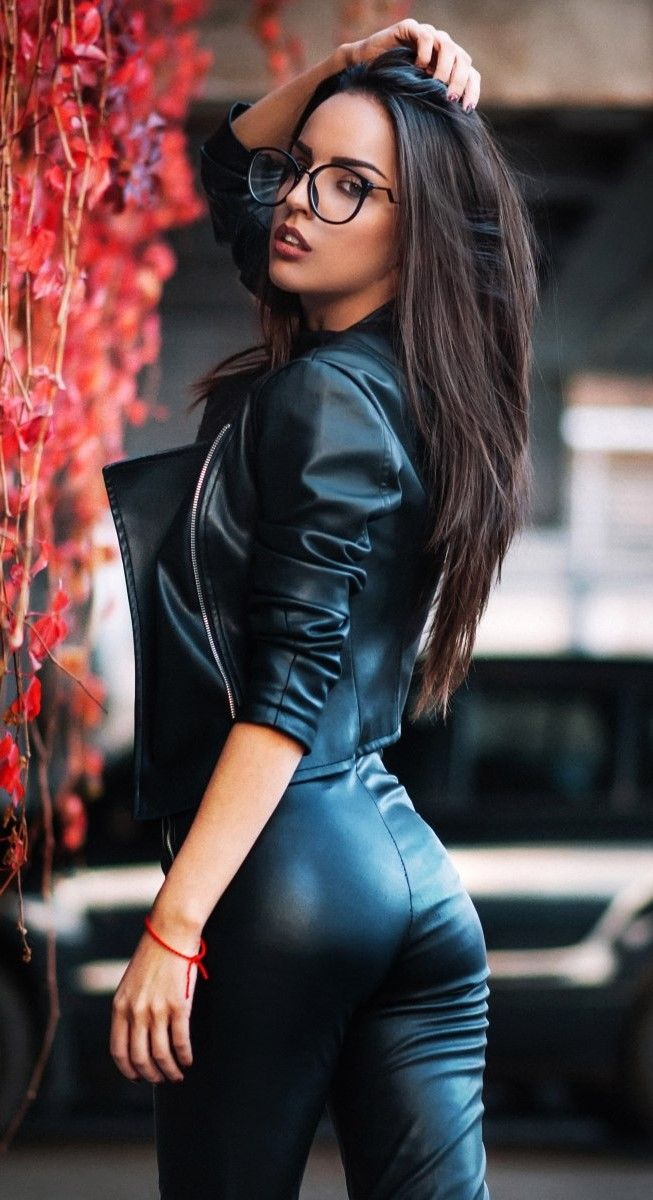 Brazilian black leather girls — 12