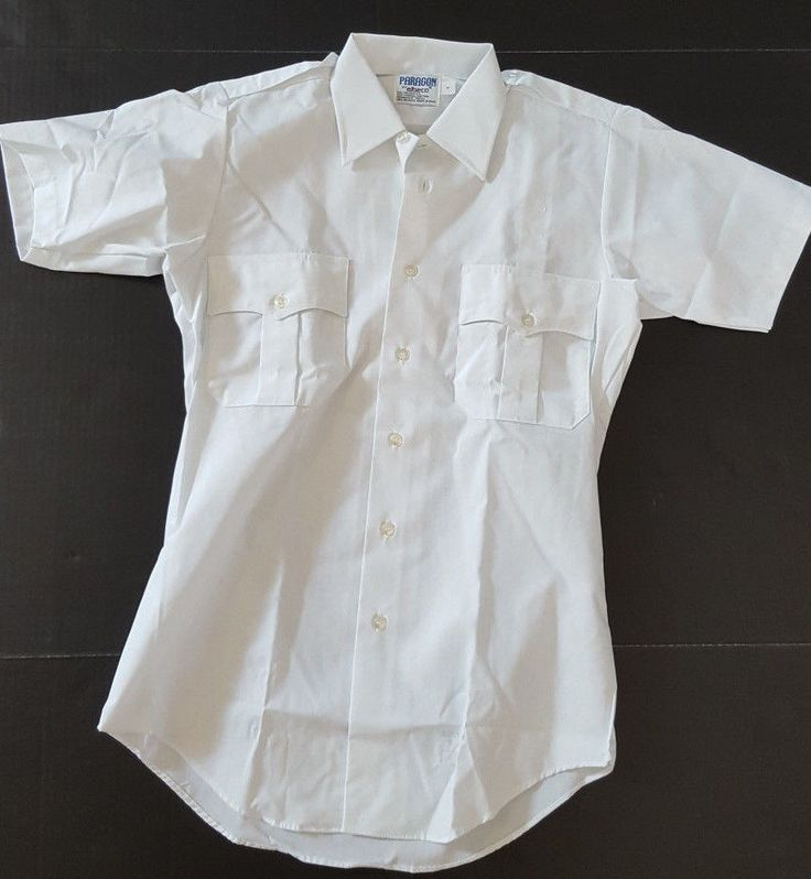 Mens Sz Small Paragon by Elbeco Security Work Uniform S/S Shirt Chest Pockets #Elbeco