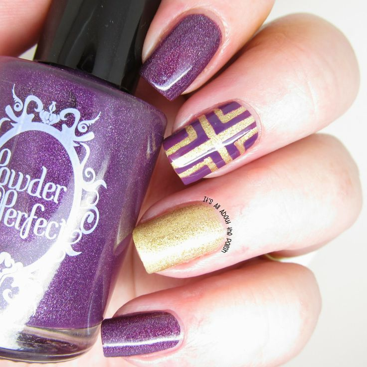 It's all about the polish: Powder Perfect Cross nail design