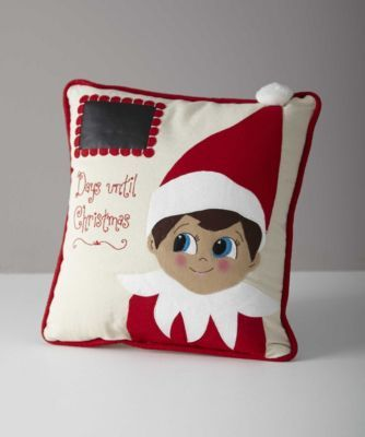 Waiting is easier with a little friend. How about your resident Elf on the Shelf®? Mark the countdown until Christmas on a swatch of chalkcloth using a chalk marker or piece of chalk