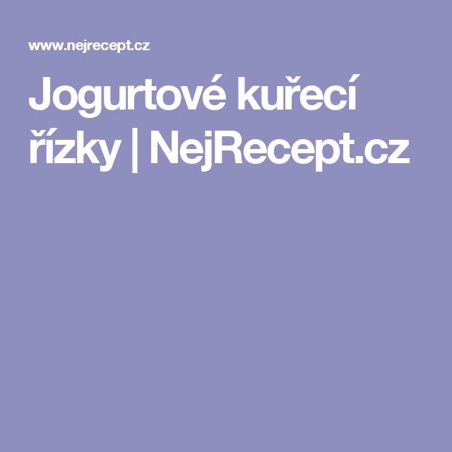 Jogurtové kuřecí řízky | NejRecept.cz