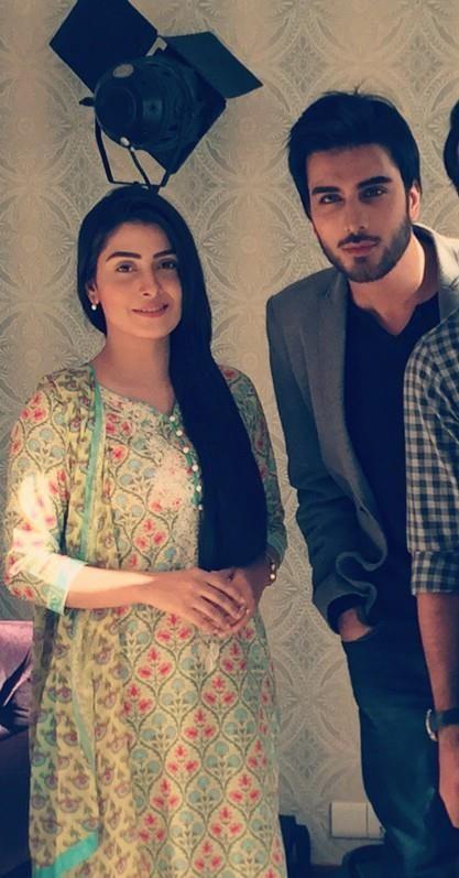 ayeza with imran abbas