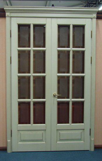 Дверь окрашенная мод. Прованс ПОРТА (стеклом и фацетом)