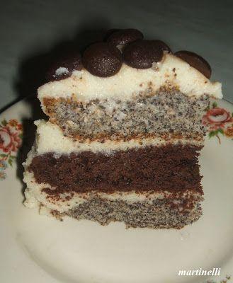 Csíkos-krémes Yin-Yang torta