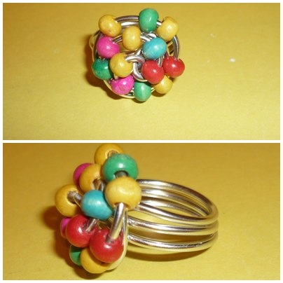 anillos de alambre de aluminio con bolitas