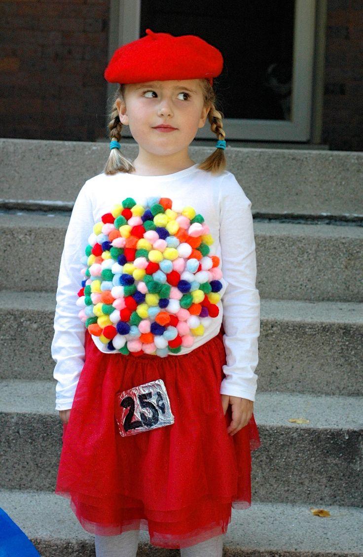 Easy DIY Halloween Costume Idea: Vintage Gumball Machine - Homemaker's Habitat