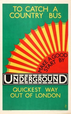 Country Bus by Underground by Austin Cooper, 1928