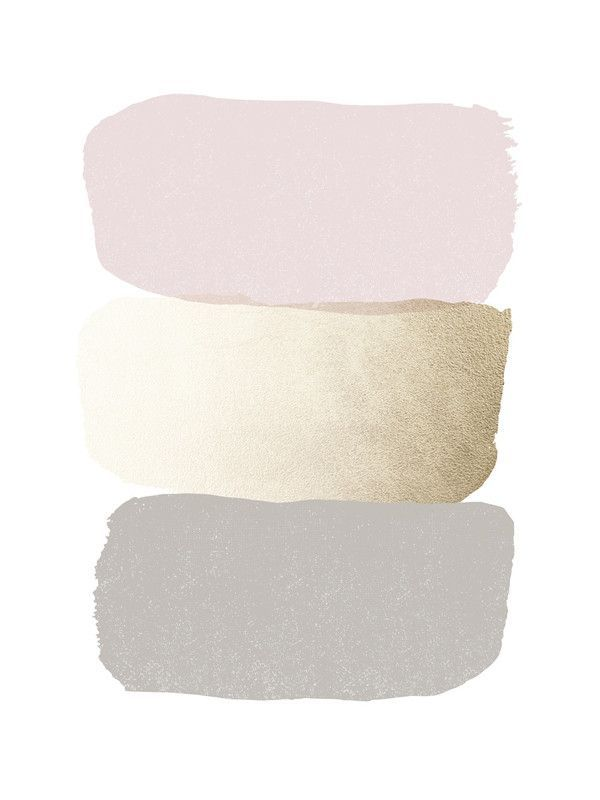pale colors: blush, gold, dove gray