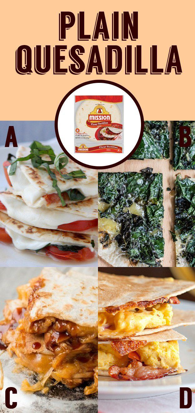 Super easy quesadillas // four ways