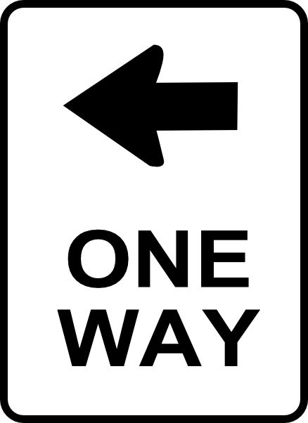 Printable Traffic Signs | one way traffic sign clip art
