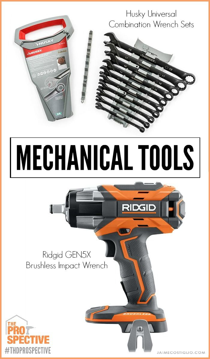 Mechanical Tools Husky Universal Wrenches And Ridgid Impact Wrench