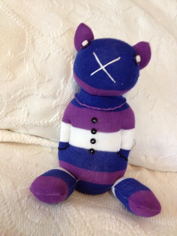 Purple Sock Doll by valreaharry on Etsy, $12.00