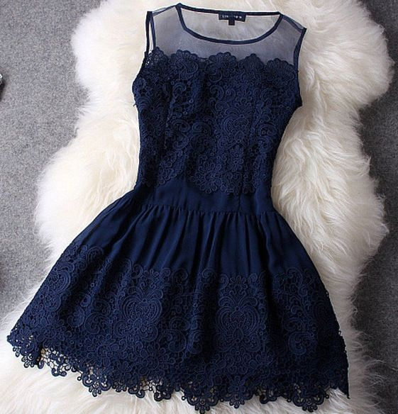 Blue lace. This would look so pretty on my girls.