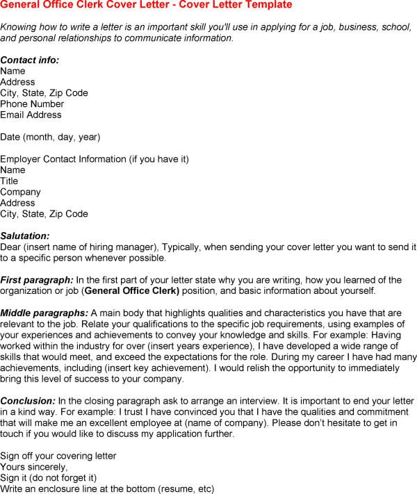 general clerk cover letter sample front desk livecareer Home - how do you sign off a cover letter