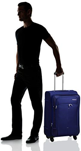 American Tourister Crete Polyester 67cms Ink Blue Softsided Suitcase of 8800 at just 3960 Rs only ~ Www.Trickloot.in
