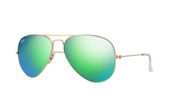 Ray Ban Green Mirror Aviator Sunglasses RB 3025 112/19