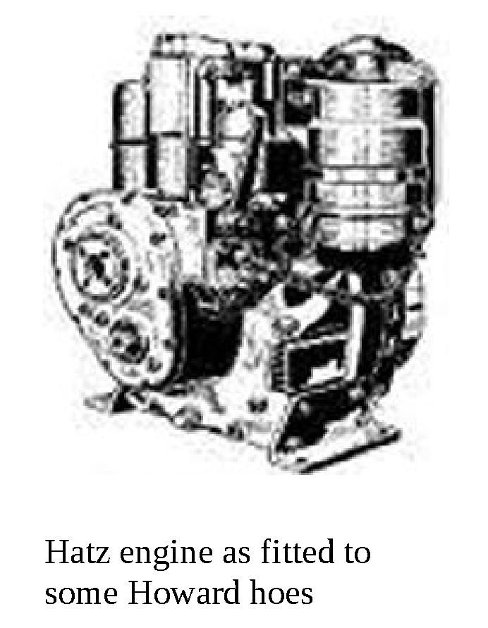 Hatz engines were popular on many Howard rotary hoes