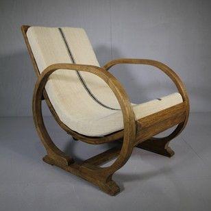 Heals 1930's Oak Lounge Chair. - Decorative Collective