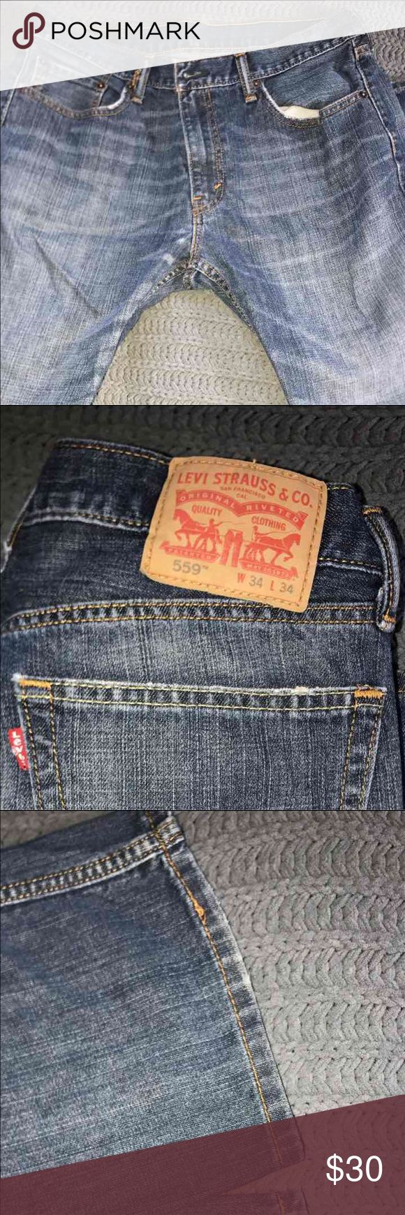 Men's Levi's Jeans Men's Levi's 559 jeans. Size 34x34. Pre-loved in very good condition.  See photos. Levi's Jeans Relaxed