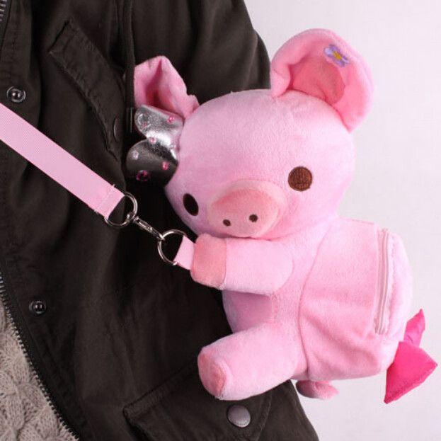 Kawaii crown pig small backpack hang bag
