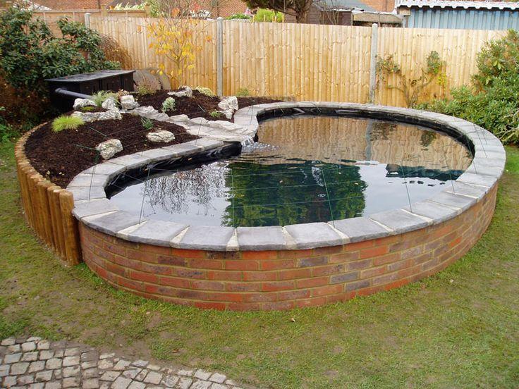 Best 25 above ground pond ideas on pinterest pond ideas for Above ground koi pond construction