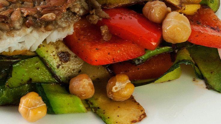 Warm Roasted Chickpea Salad