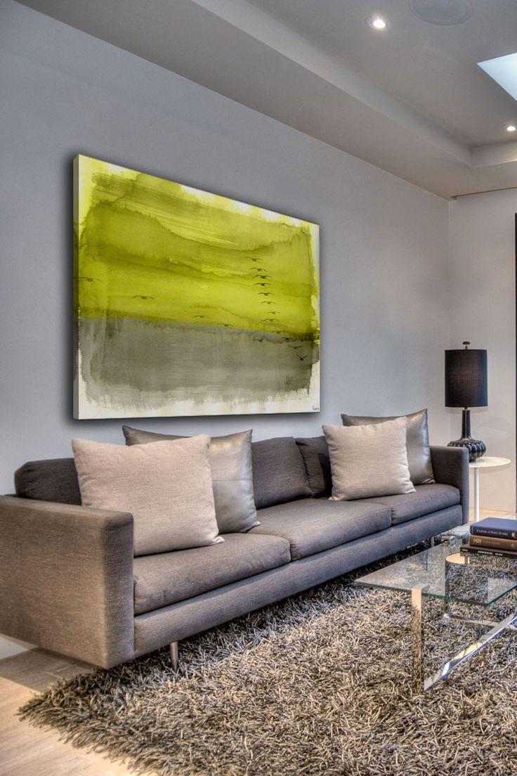 sofá e quadro
