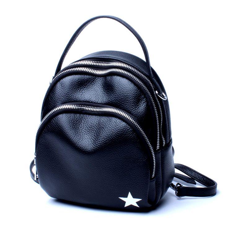 Bonito bolso bandolera pequeño de cuero mochila casual mujer viaje con orificio para cable de auriculares [AL93197] - €48.26 : bzbolsos.com, comprar bolsos online