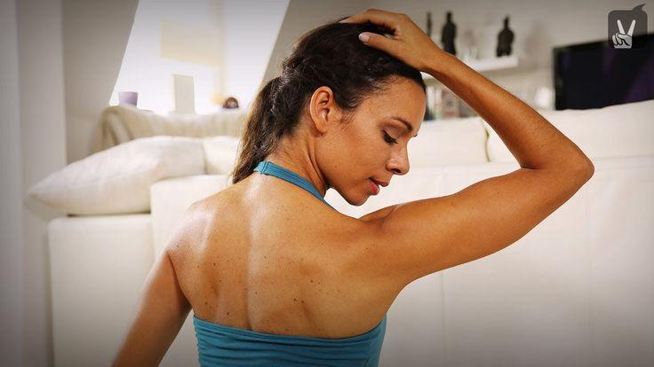 Yogaübungen, um die Verspannungen im Nacken und Schulterbereich zu lockern
