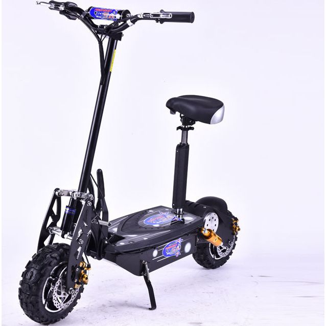 Brushless Motor Electric Scooter in Black 1600W 48V | Buy Motorised Scooters