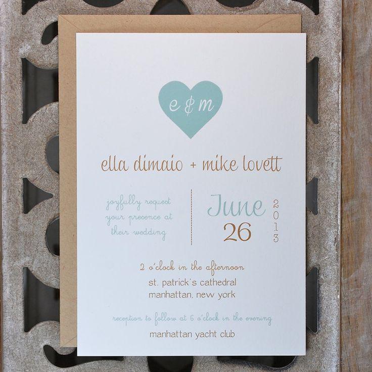Wedding Invitations, Rustic Wedding Invites, Heart Wedding Invitations, Wedding  Invitation   Romance